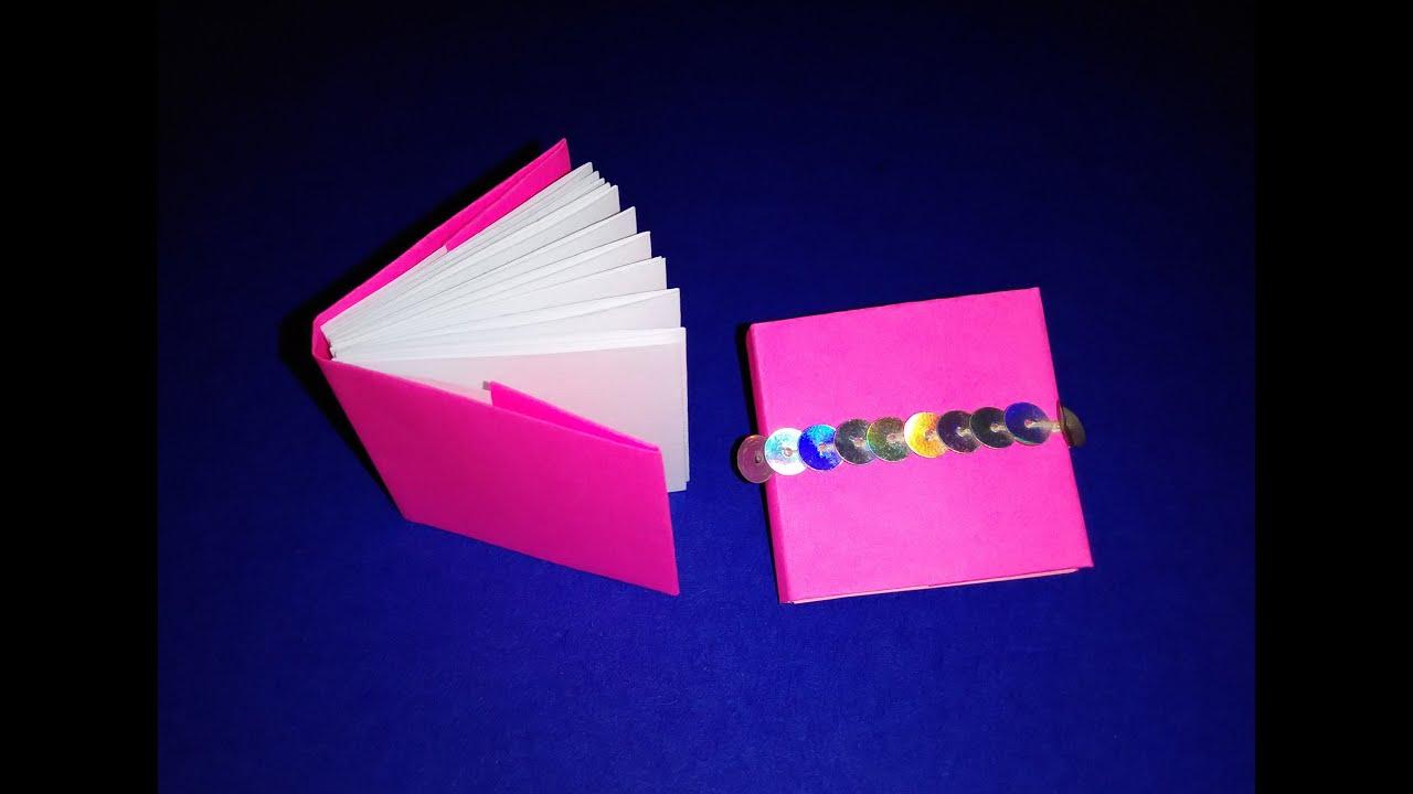 Как сделать книжку из бумаги среднюю