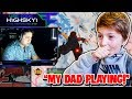H1ghsky1 SHOCKED when spectating His Dad *First Time* plays Fortnite on stream!