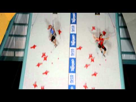 NEW World record in speed climbing 2011 (6.26 seconds) HD