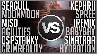 [Overwatch] Kephrii's Group VS MoonMoon & Seagull's Group