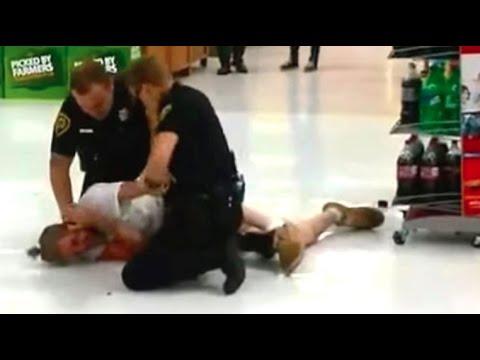 Violent Video Of Cops Beating Suspect During Arrest At Walmart