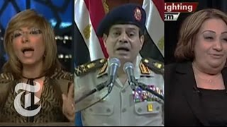 Military Dominates the Airwaves in Egypt  8/21/13