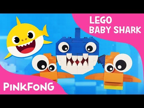 Lego Version of Ba Shark with Pixar Artists Family  Animal Songs  Pinkfong Songs for Children