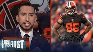 Myles Garrett won't play again for the Browns until next year — Nick | NFL | FIRST THINGS FIRST
