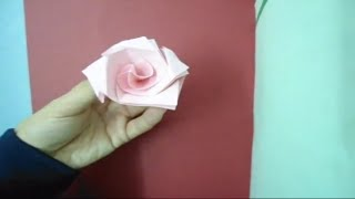 How To Make A Origami Rose (st. Valentine Day)