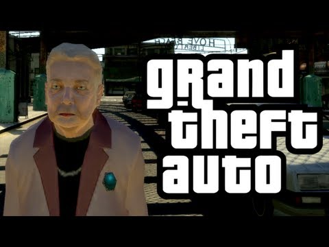 Gta 4 - Granny's Adventure! - (granny W  Wheelchair Mod Funny Moments) video