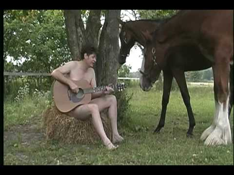 Naked Man with two Horses  (One Crumb)