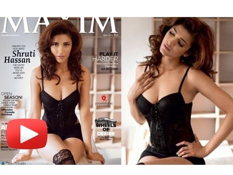 Sensuous Shruti Hassan Looks Smoking Hot -- Maxim Magazine Cover Revealed