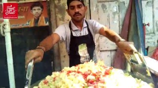 How It's Made - Pav Bhaji - Tawa Pulav - Masala Pav at Lower Parel West - Yummy Street Food