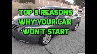 Top 5 Reasons Why Your Car Is Not Starting