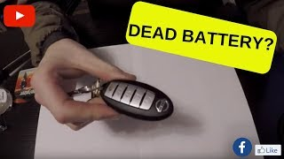 Nissan / Infiniti Key fob Battery Replacement