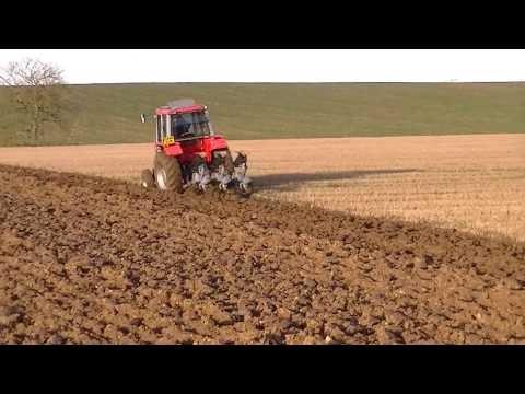 Massey Ferguson 698T Ploughing