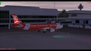 Airbus A320 Dusk Approach & Landing into Singapore