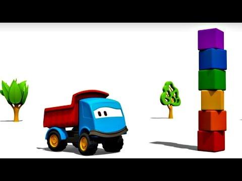 Meraklı kamyon Leo ve yapı taşları – eğlenceli çizgi film