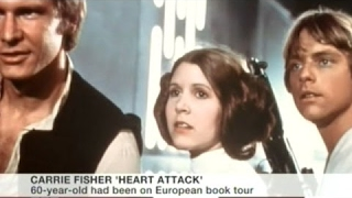 [News Today] - Carrie Fisher Suffers Heart Attack On Flight From London To Los Angeles!