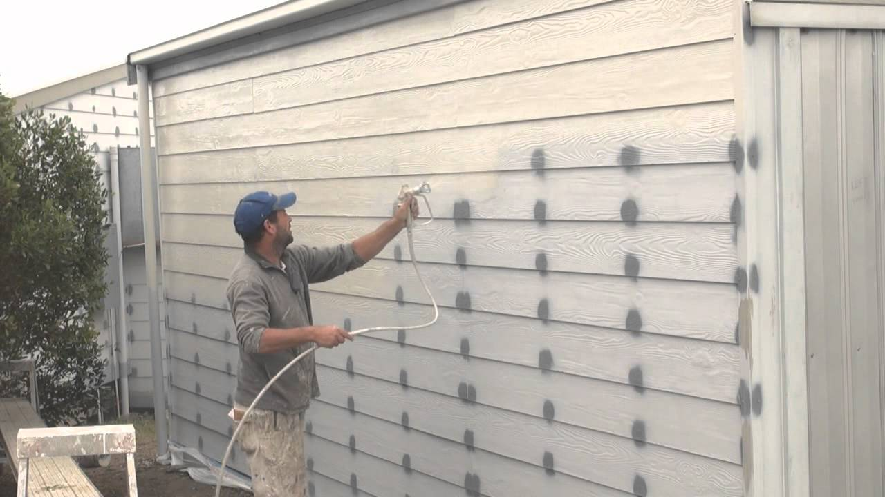 How to spray a house airless spray painting exterior walls youtube - High build exterior paint set ...