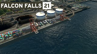Cities Skylines - Falcon Falls | Part 21 - Harbor!