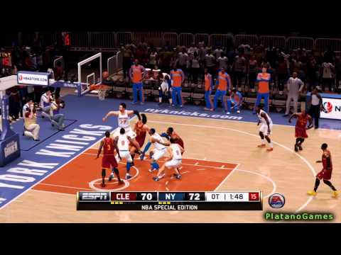 NBA Cleveland Cavaliers vs New York Knicks - Overtime - NBA Live 14 PS4 - HD