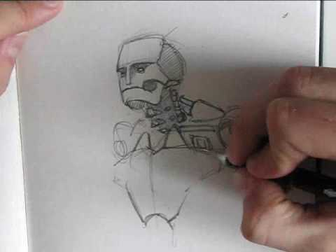 Robot Concept Drawings Concept Art Speed Drawing