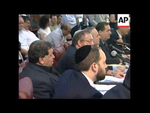 Israeli cabinet meeting, PM invites Abbas to talk peace