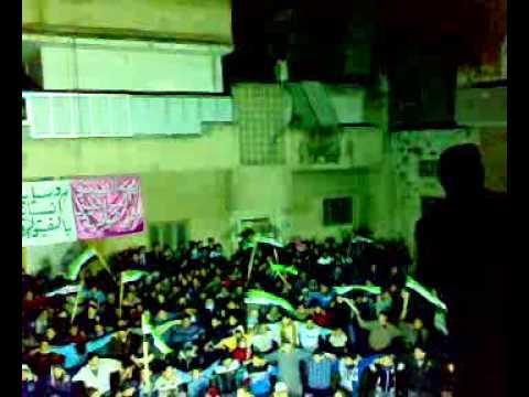 حماة - مظاهرة باب قبلي نصرة لحمص الجريحة 8-2-2012