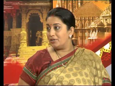 Smruti Irani Discuss About Gujarat Vikas and tribal area development Part-1
