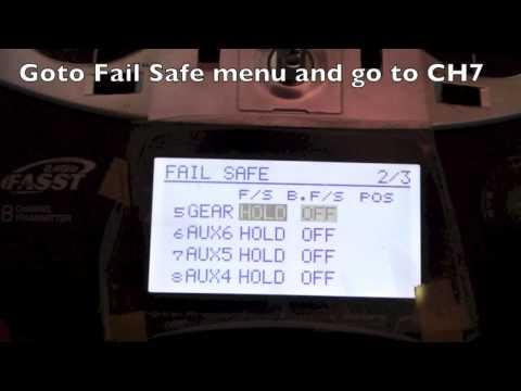 Futaba T8FG Fail-safe with DJI Naza. WK-M