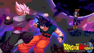 Dragon Ball Super Time Breaker Arc Episode 2 - Sprites Battle Super Goku VS Goku Black & Baby Vegeta