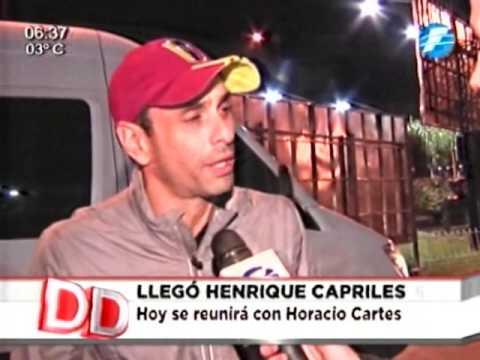 Capriles pide ayuda a Paraguay para destituir a Maduro 13/06/16