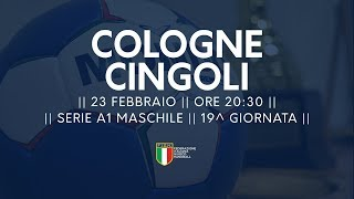 Serie A1M [19^]: Cologne - Cingoli 27-23