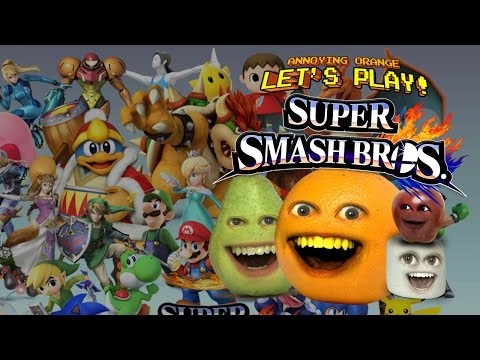 Annoying Orange Let's Play Super Smash Bros. WII U