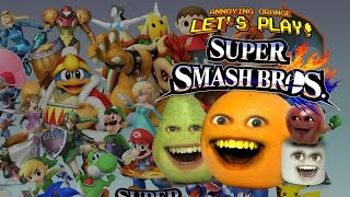 Annoying Orange Let's Play Super Smash Bros. WII U
