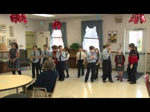 Hollidaysburg Catholic School - Valentines Day at St Leonards Home