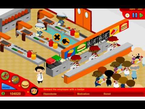 McDonalds Video GameBurger Tycoon Walkthrough Part 13