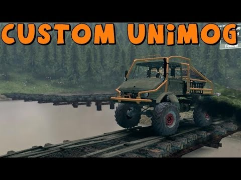 SpinTires   Mod Review   Custom Mercedes Unimog   Download Link In Description