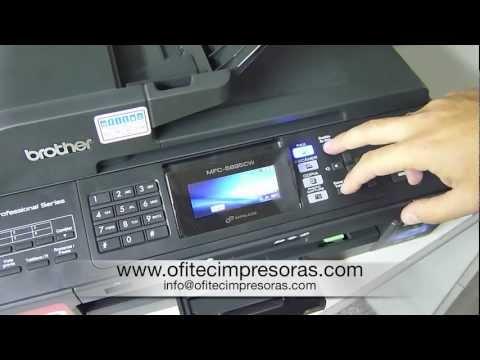 Limpieza de cabezales impresora multifunción Brother 5895CW