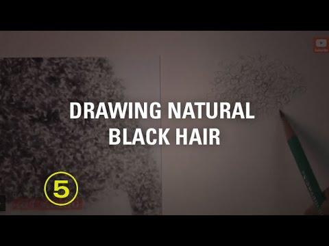 DRAWING NATURAL BLACK HAIR (Art Studio Lesson 29 Excerpt)
