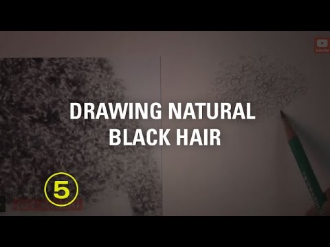 How to Texture Hair Drawing How to Draw Natural Black Hair