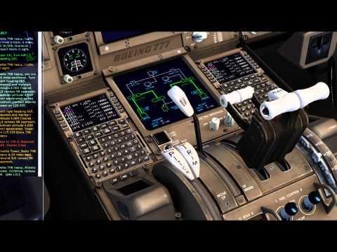 FSX- CaptainSim 777LR Delta- (St Maarten)TNCM/KATL(Atlanta)- ILS/Autoland Tutorial