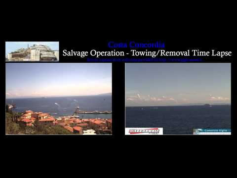 Costa Concordia - Removal/Towing Time Lapse