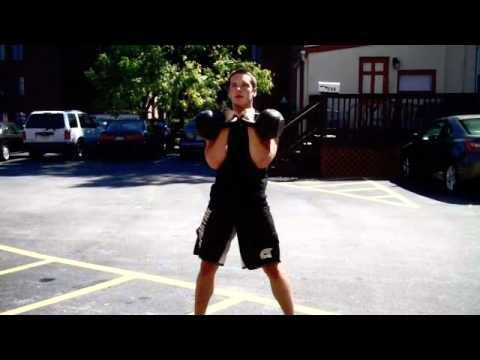 Kettlebell Double Clean and Press Image 1