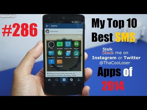 My Top 10 Best SMS (texting) Apps of 2014 - Messaging #286