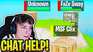 Clix EXTREMELY Nervous after FaZe SWAY & UNKNOWN Team Up AGAINST Him! (Fortnite)