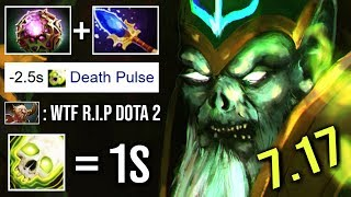 NEW IMBA 7.17 NECROPHOS 1s Death Pulse Immortal Heal All Team Octarine Build Top Gameplay WTF Dota 2