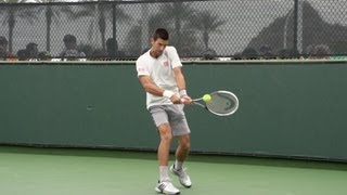 Novak Djokovic Backhand In Super Slow Motion 2 - Indian Wells 2013 - BNP Paribas Open