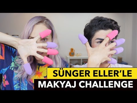 Sünger Ellerle Makyaj Challenge | Arda Bektaş | Sebile Ölmez