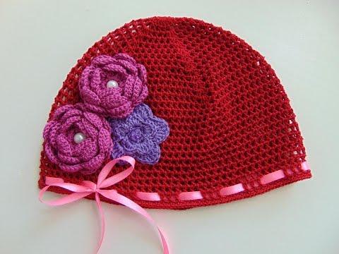 Как связать шапочку сеточку для девочки
