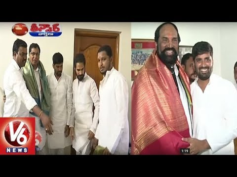 Telangana Congress Workers Celebrates Uttam Kumar And Jana Reddy Birthday | Teenmaar News