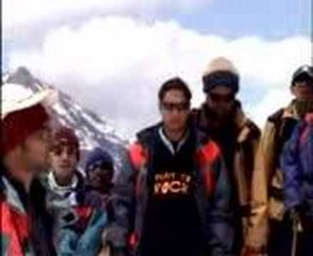 indian National Anthemn on the himalayan  ranges