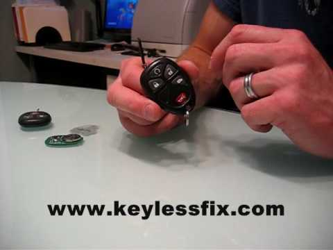 GM Remote Repair Keyless FOB Fix - Keylessfix Button Repair